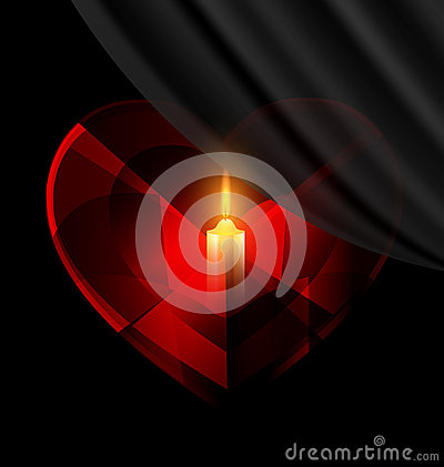 Free Heart And Candle Stock Images - 58029454
