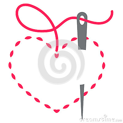 Free Heart And Needle Stock Images - 44004714