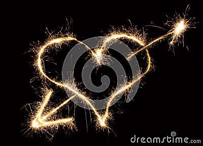 Heart and arrow sparkler