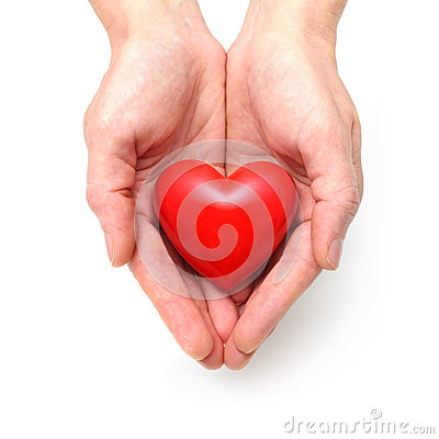 Free Heart At The Human Hands Royalty Free Stock Photo - 34809125