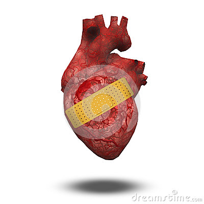 Free Heart Attack Or Wounded Heart Royalty Free Stock Photo - 30215935