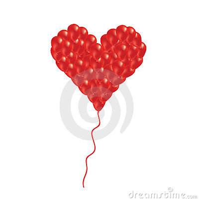Heart from balloon