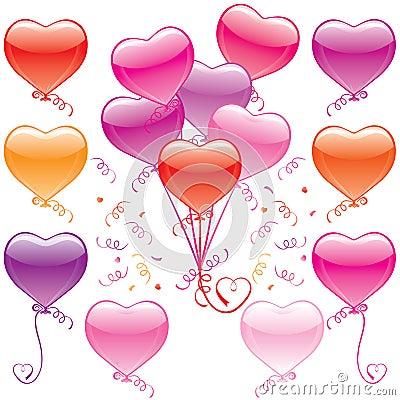 Free Heart Balloon Bouquet Royalty Free Stock Photo - 7659985