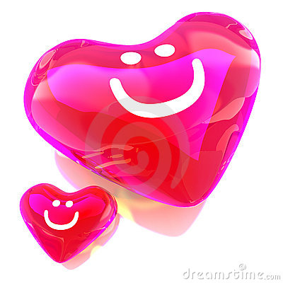 Heart balloon colored red