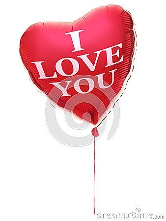 Heart balloon - I love you