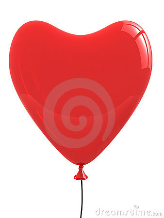 Heart balloon total red. I Love you abstract