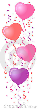 Heart Balloons & Confetti/eps