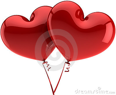 Heart balloons total red