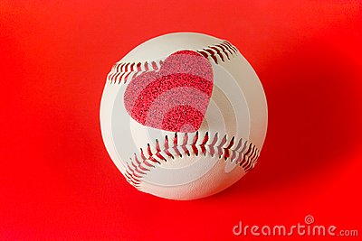 Heart on baseball