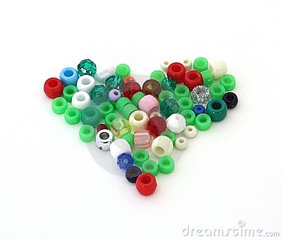 Heart of beads