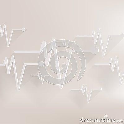 Free Heart Beat, Cardiogramm. Pulse Icon Stock Photo - 37402990