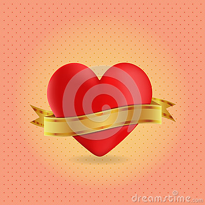 Heart With Blank Ribbon