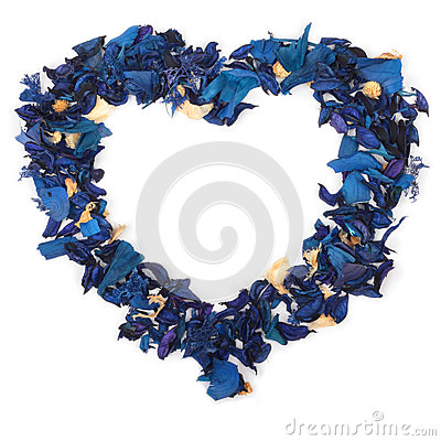 Heart of blue petals