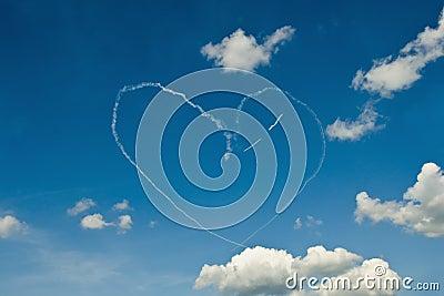 Heart On Blue Sky