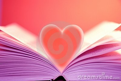 Heart on the book