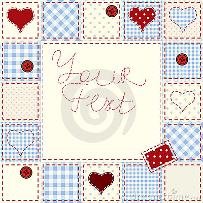 Heart bordered background