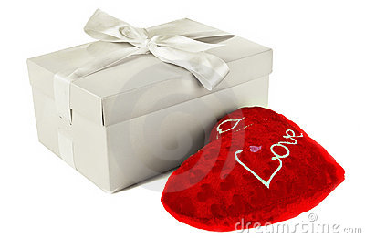 Heart in a box as a gift