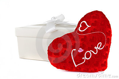 Heart in a box as a gift on Valentine s Day