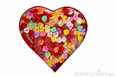 Heart box of candy