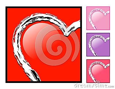 Heart in a Box Love Icon