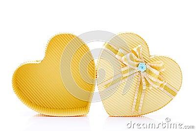 Heart box with ribbon