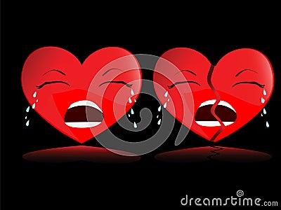 Heart break(vector)