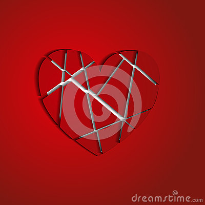 The heart broken into splinters
