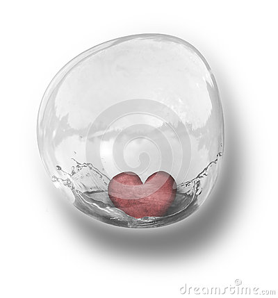 Heart in bubble