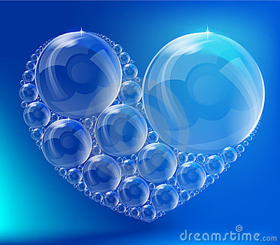 The heart of the bubbles