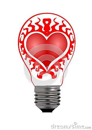 Heart bulb