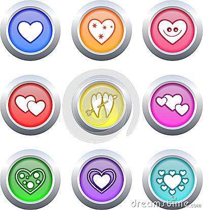 Free Heart Buttons Stock Photos - 3977593