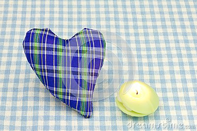 Heart and a candle