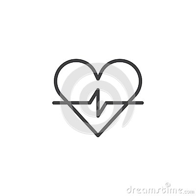 Free Heart Cardiogram Line Icon Royalty Free Stock Photography - 108895987