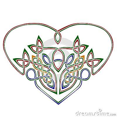 Heart in celtic style