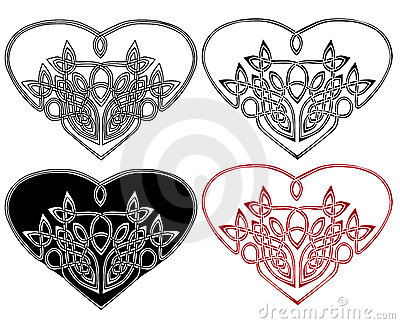 Heart in celtic style