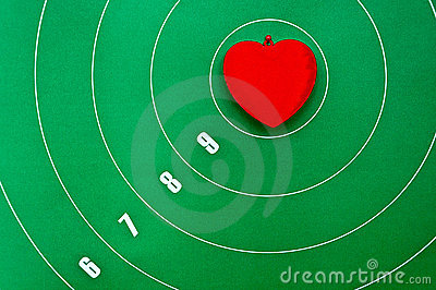 Heart in the center of the target