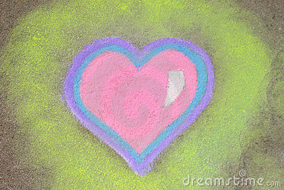 Heart in chalk