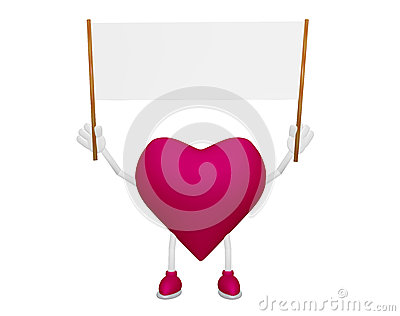 Heart character with Billboard blank streamer