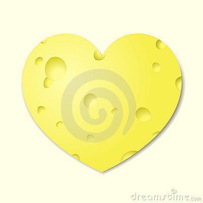 Heart from cheese