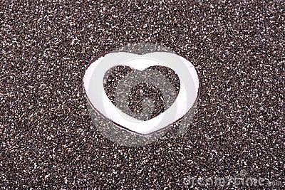 Heart in chia
