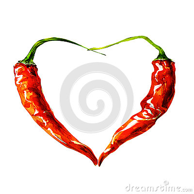 Heart from chili pepper