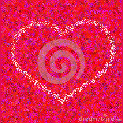 Heart from a circles
