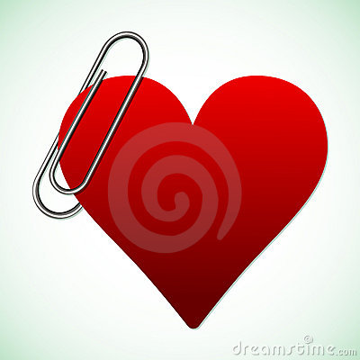 Heart and clip illustration