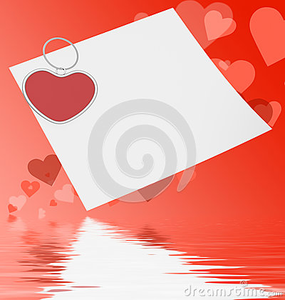 Heart Clip On Note Displays Affection Note Or Love Message
