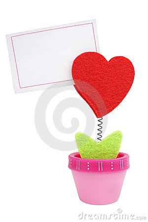 Free Heart Clip With Blank Paper Note Royalty Free Stock Image - 18421066