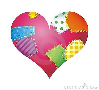 Heart with color patch