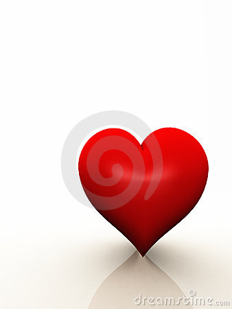 A Heart with Copy Space