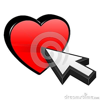 Heart and cursor