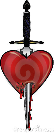 Heart with a dagger