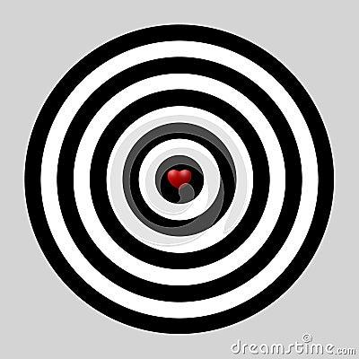 Heart dart, target of love